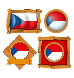 flag of chile on different frames vector image