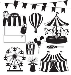 Fun fair and circus collection vector