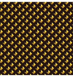 Gold rhombus on black background abstract seamless vector image vector image