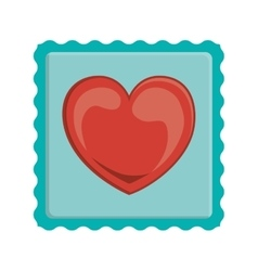 heart post stamp vector image
