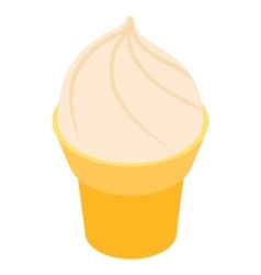 Ice cream in a waffle cone icon vector