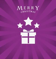 Merry christmas icon vector