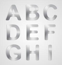 Metal Alphabet Set vector image