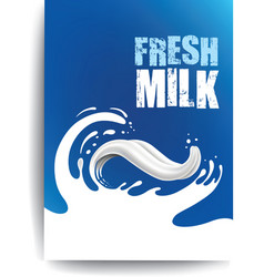 packaging milk splash like tongue vector image
