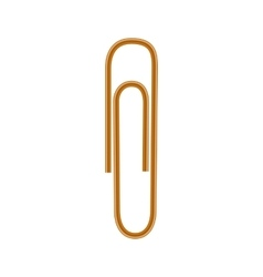 Paper clips icon realistic style vector image vector image