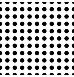 Polka dot black seamless pattern vector image vector image