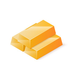 stack of gold bars isometric vector image vector image
