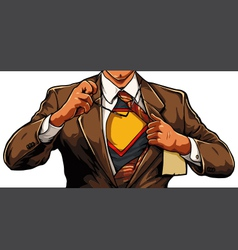 Superhero cartoon man vector image vector image