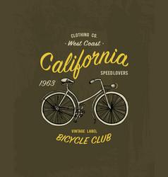 tee print bicycle bike or transport t-shirt vector image