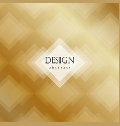 transparent golden rhombus abstract background vector image vector image