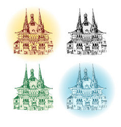 Wernigerode germany town vector