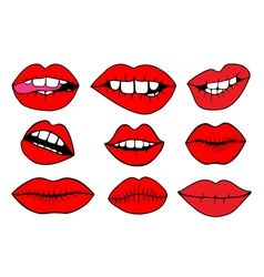 - Sweet lips vector image