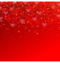 Valentines day background with red heart for your vector