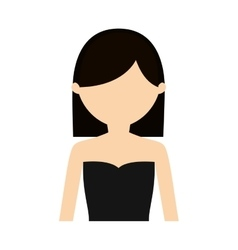 Character woman sensual clothes vector