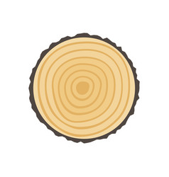 Saw cut tree trunk vector