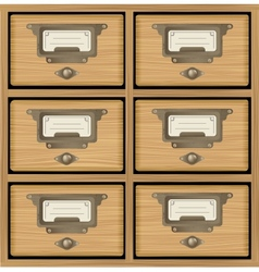 Wooden furniture vector