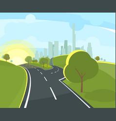 Panoramic urban landscape vector