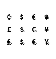 Exchange rate icons on white background vector
