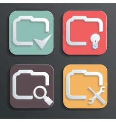 Design folder icons for web and mobile vector
