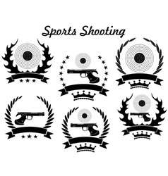Sports shooting vector