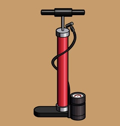 Bicycle hand air pump vector