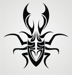 Beetle tattoo design vector