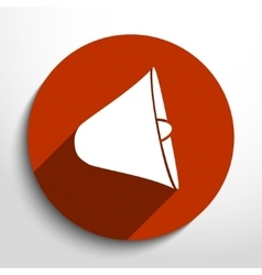 Loudspeaker web flat icon vector
