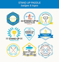 Set of different logotype templates for stand up vector image