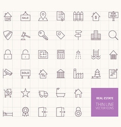 Real estate outline icons for web and mobile apps vector