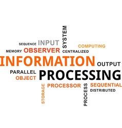 Word cloud information processing vector