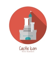 Castle icon palace design flat vector