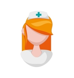 Nurse icon medical and health care vector