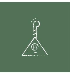 Balalaika icon drawn in chalk vector image vector image