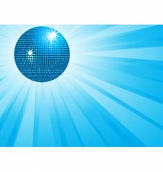 blue disco ball and wings vector image