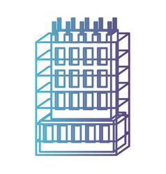 Building under construction with scaffolding vector