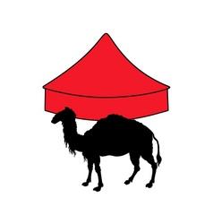Camel in circus vector