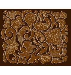 carved wood pattern vector image