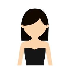 character woman sensual clothes vector image