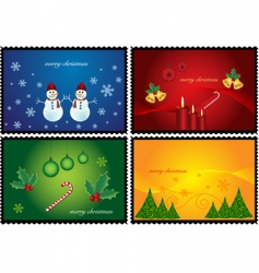 Christmas banner stamps vector image vector image