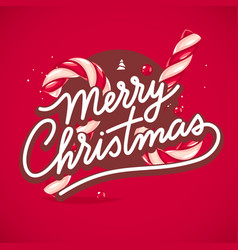 christmas lettering card vector image vector image