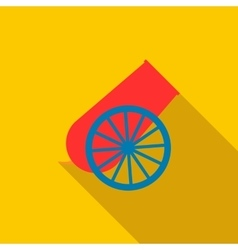 Circus cannon icon flat style vector