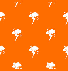 Cloud and lightning pattern seamless vector