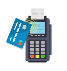 Contactless payment purchase vector