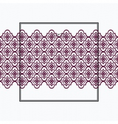 crest frame vector image vector image