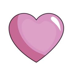 cute purple heart vector image