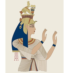 Egyptian Queen Taia vector image