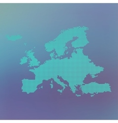 Europe dotted map on blue background vector