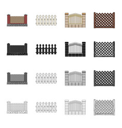 fencing palisade paling and other web icon in vector image