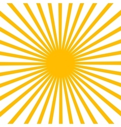 Flat yellow sun vector