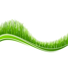grass wave vector image vector image
